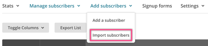 Importing Subscribers in MailChimp