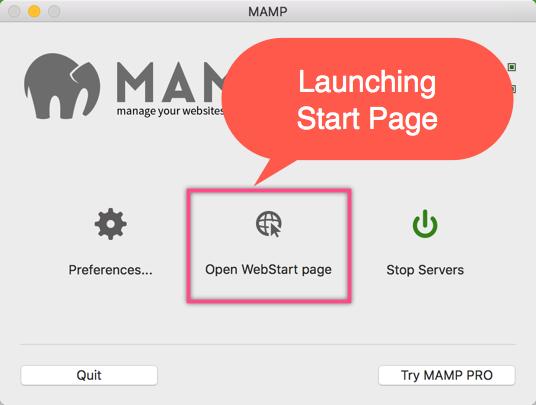 Запуск веб-страницы в MAMP