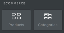 New Products and Categories Elements