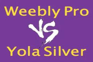 Weebly Pro Vs Yola Silver