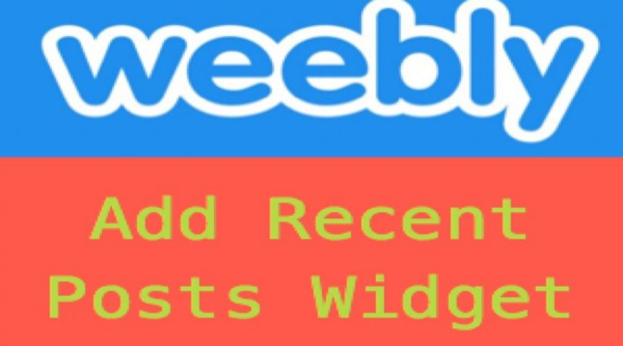 How to Add Recent Posts Widget in Weebly?