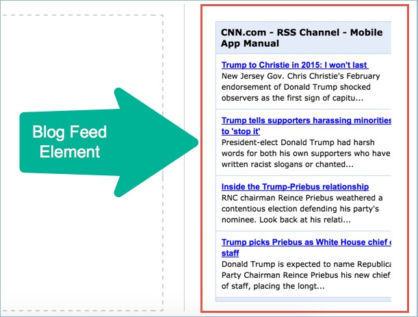 Blog Feed Element in Weebly