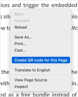 Create QR Code in Chrome