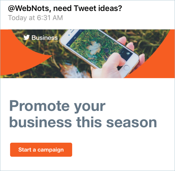 Promoting Business Site on Twitter