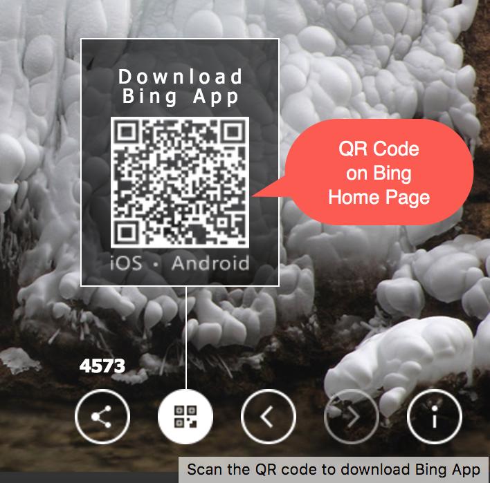 QR Code to Download Bing App