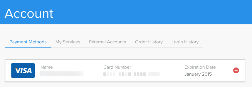 Removing Credit Card in Weebly Account