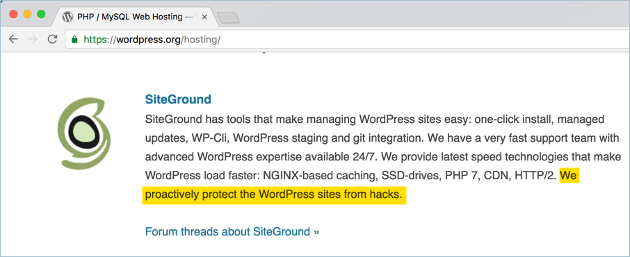 WordPress Recommended Hosting