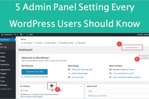 5 Admin Panel Settings Every WordPress Beginners Should Know