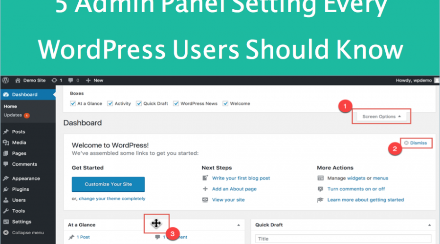 5 Admin Panel Settings Every WordPress Beginners Should Know