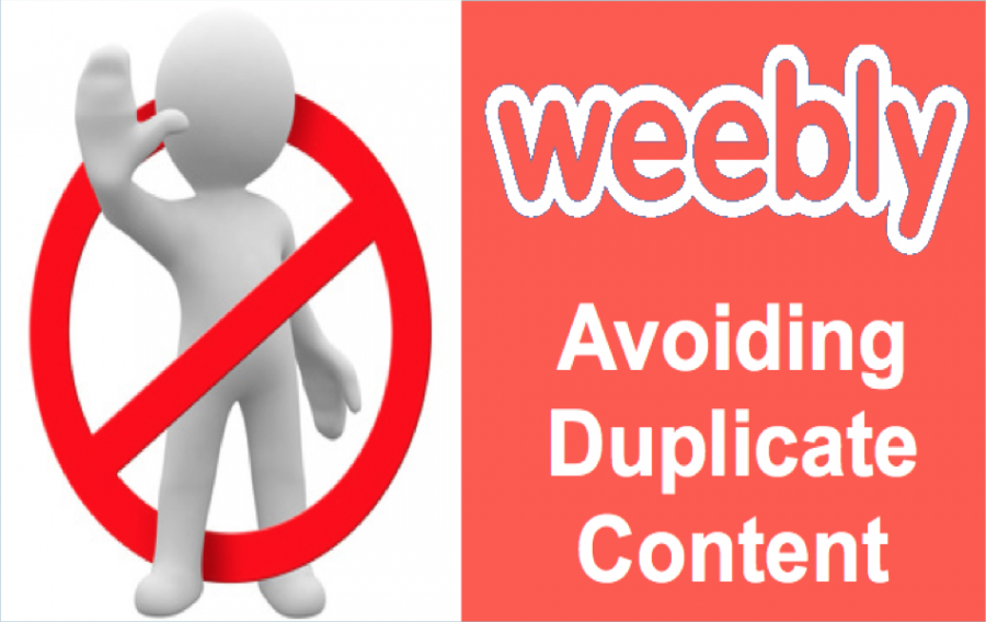 Avoid Duplicate Content in Weebly