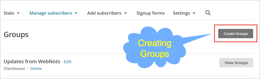 Creating Groups in MailChimp