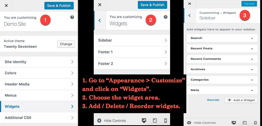 Customize Widgets with WordPress Customizer