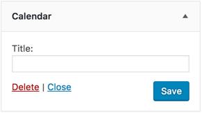 Deleting WordPress Widget