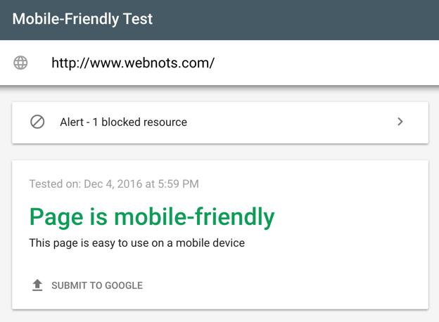 Инструмент тестирования Google для мобильных устройств