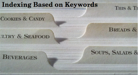 Indexing Based on Keywords