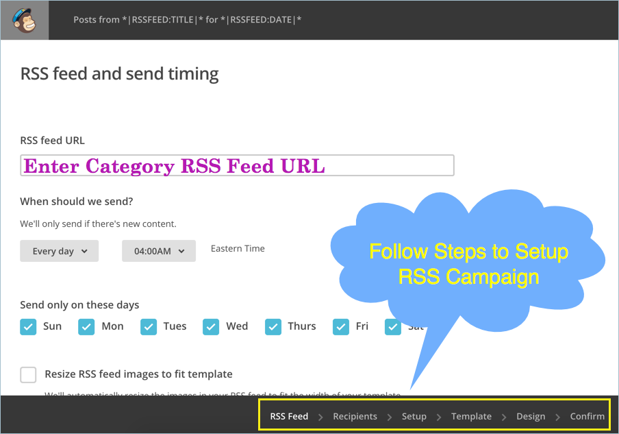 Setting Up RSS Campaign in MailChimp