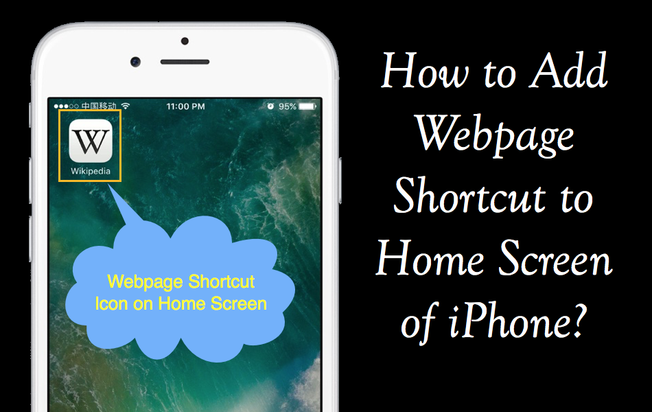 How to Add Webpage Shortcut in Home Screen of iPhone?