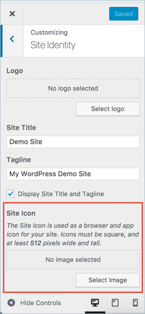 Adding Site Icon in WordPress Site