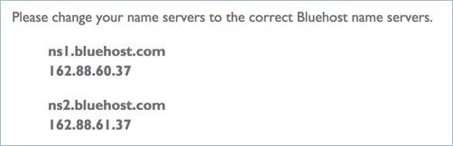 Bluehost Nameserver Details