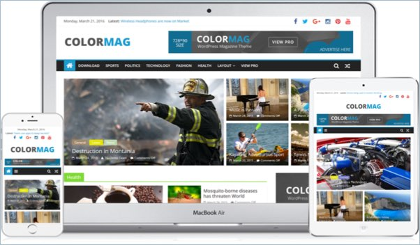 No 6 – Colormag Magazine WordPress Theme