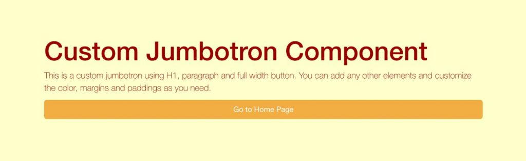 Custom Bootstrap Jumbotron