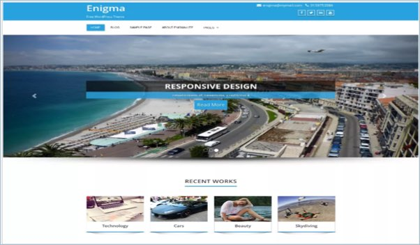 No 9 – Enigma WordPress Theme