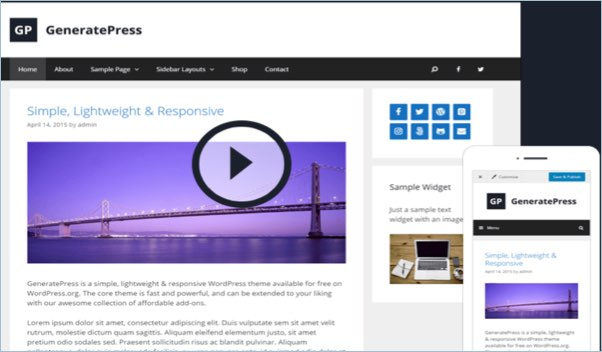 No 3 – GeneratePress WordPress Theme