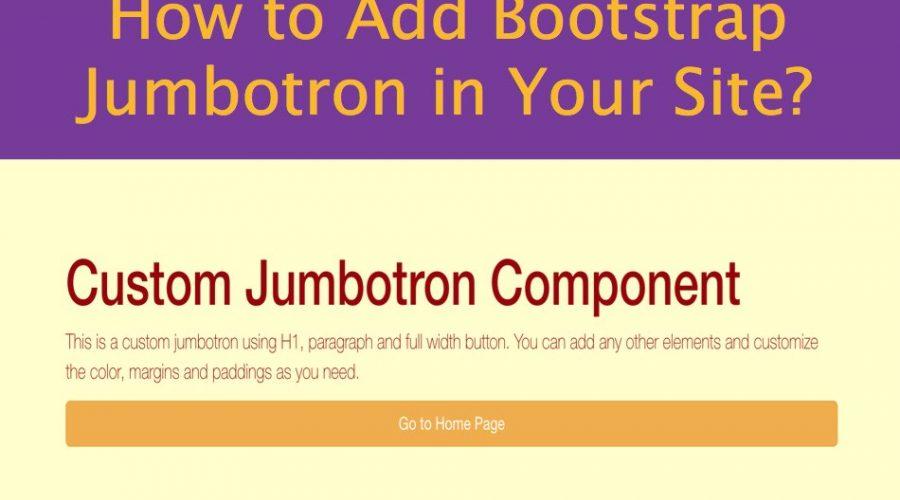 Bootstrap 4 Jumbotron Tutorial