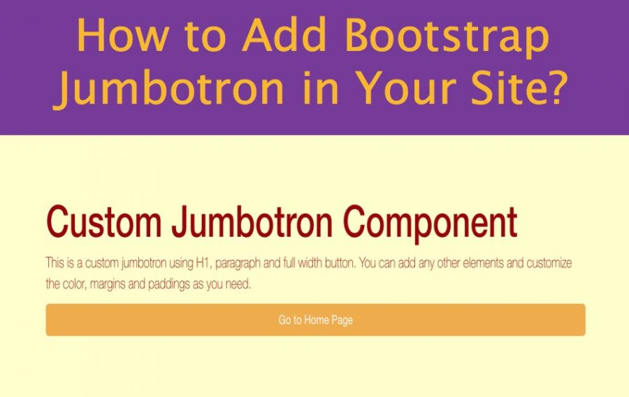 How to Add Bootstrap Jumbotron in Your Site?