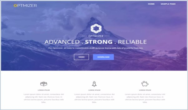 No 10 – Optimizer WordPress Theme