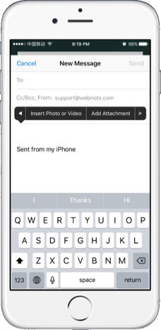 Sending Email Attachment from iCloud