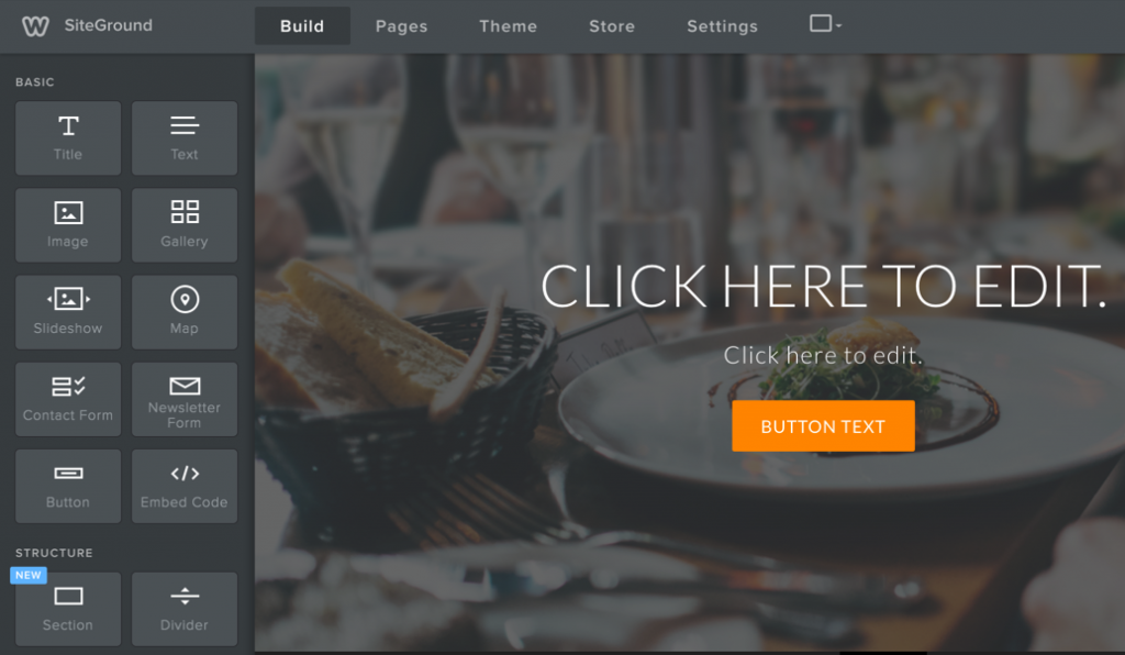 SiteGround Weebly Site Builder