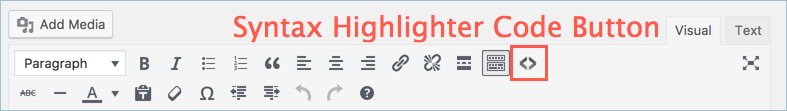 Syntax Highlighter Code Button