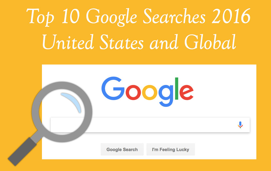 Top 10 Google Searches of 2016 in US and Global