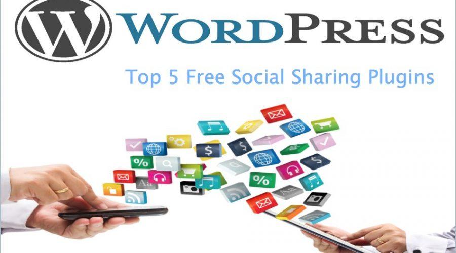 Top 5 Free Social Sharing Plugins for WordPress