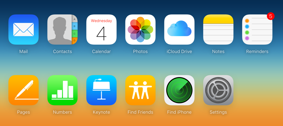 iCloud Apps on Website