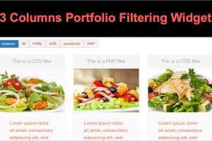 3 Columns Portfolio Filtering Widget