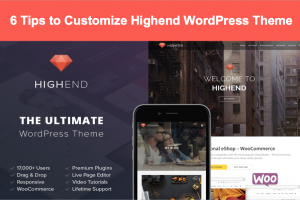 6 Tips to Customize Highend WordPress Theme