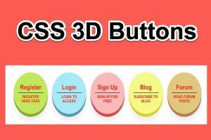 CSS 3D Buttons Showcase