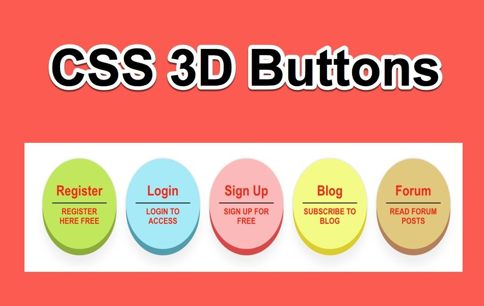 3D CSS Press Buttons Widget for Weebly Site