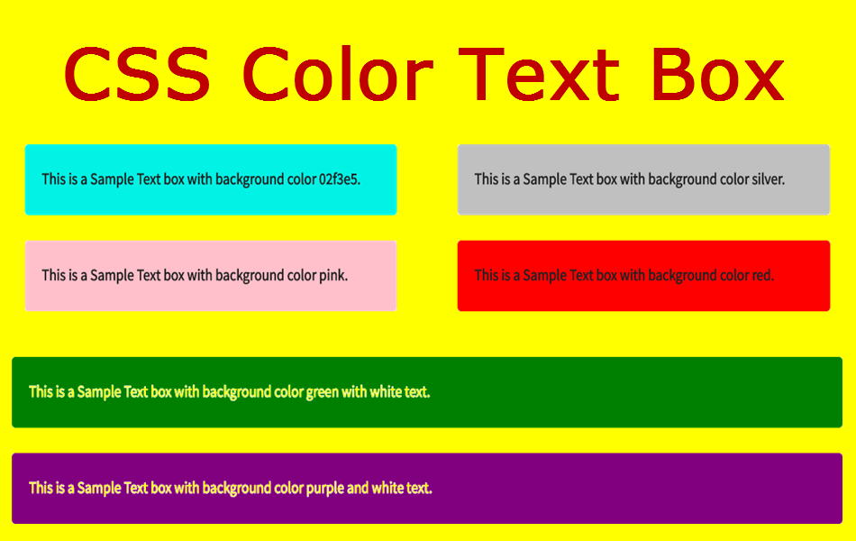 How to change the background color of a textbox in css for Css page color