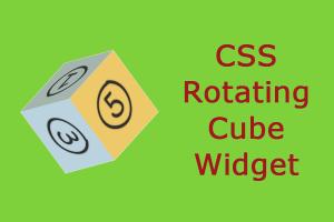 CSS Rotating Cube Widget