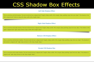 CSS Shadow Box Effects