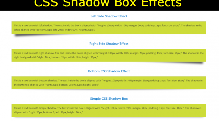 CSS box-shadow Tutorial