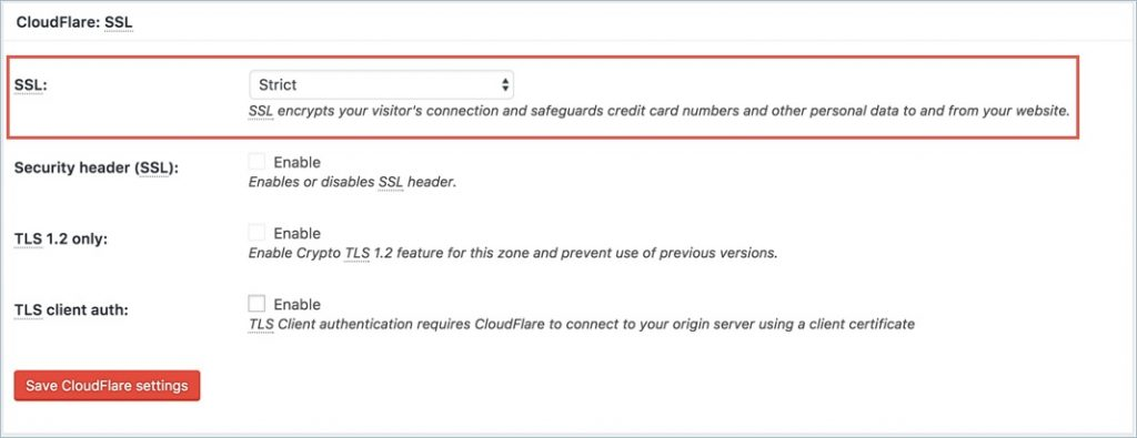 Configuring SSL with CloudFlare