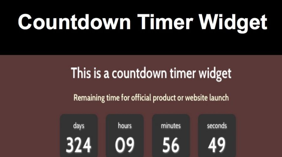 Free Countdown Timer Widget for Weebly Site