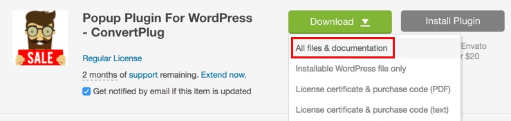 Download ConvertPlug Plugin from Codecanyon