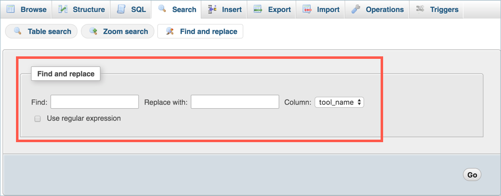 Find and Replace Function in MySQL Table