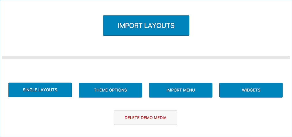 Importing Demo Content of Uncode Theme