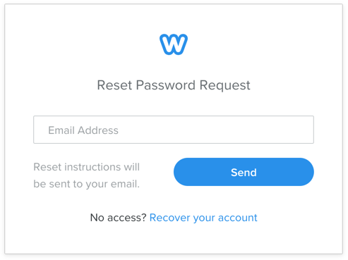 Reset Weebly Password